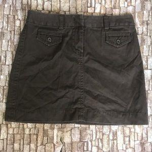 J.CREW Chocolate Brown Skirt w/ Pockets